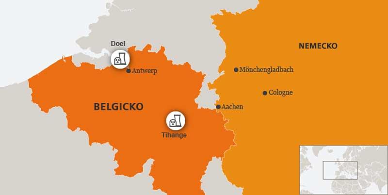 Jadrová energia v Belgicku. Obidve elektrárne majú definitívne zatvoriť najneskôr v roku 2025. Zdroj: DW