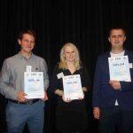 Slovenská nukleárna spoločnosť odmenila sumou 200, 150 a 100 € troch autorov najlepších príspevkov odbornej konferencie MG SNUS 2018