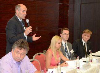ECED 2013. Panelists: Mr. Slugen (SVK), Mr Seyda (UKR), Ms Dishkova (BLG), Mr Macasek (SVK)