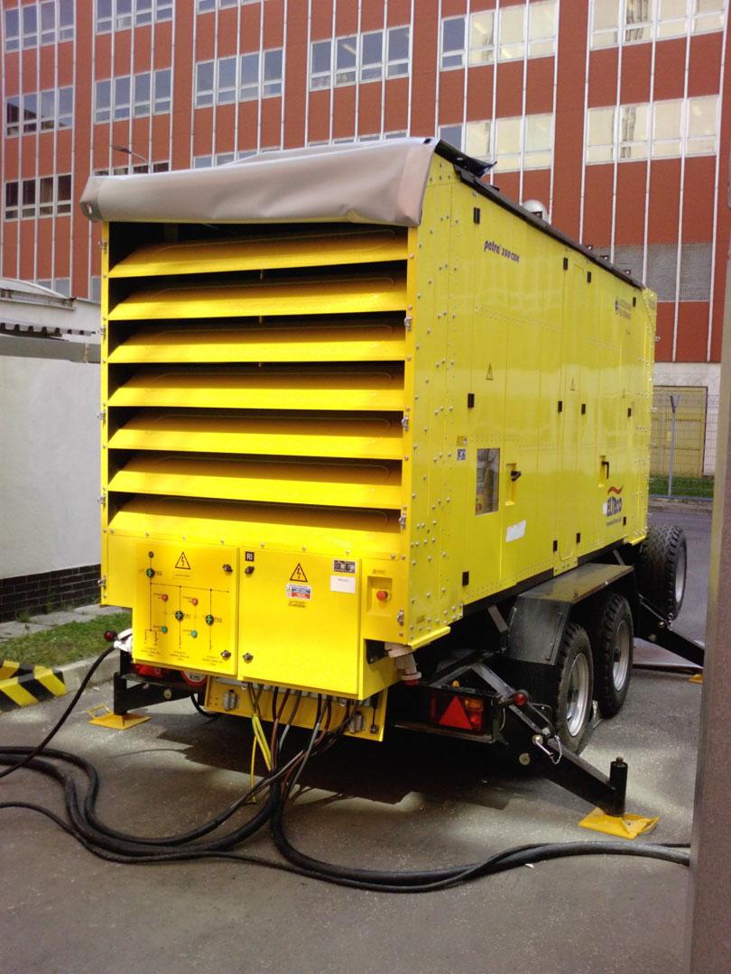 Mochovce: mobil Dieselaggregat. Quelle: SEAS.SK
