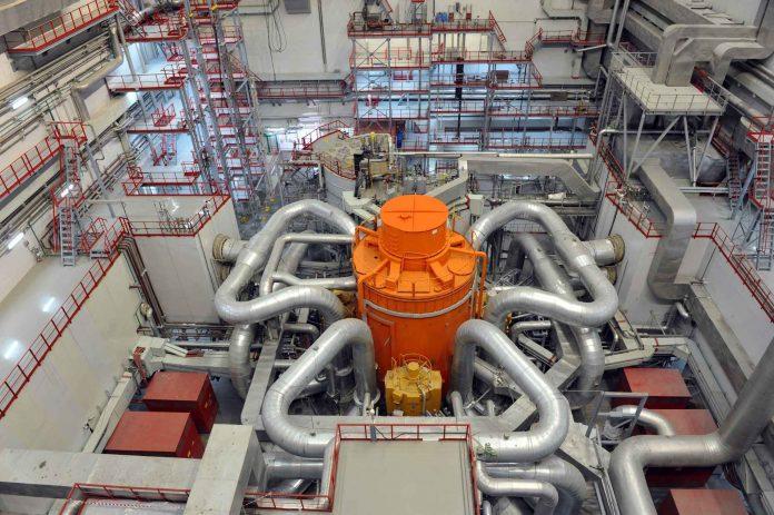 BN-800 v JE Belojarsk je jediný sodíkový reaktor na svete, ktorý vyrába elektrinu z paliva MOX. Foto: Rosenergoatom