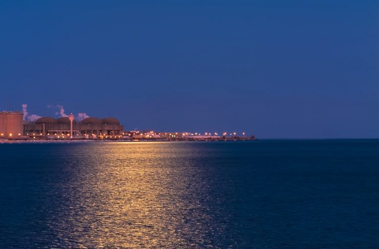 The Pickering Nuclear Power Plant on Lake Ontario